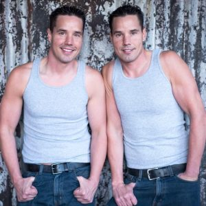 Lane Twins modelingTank Tops