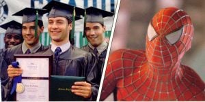 With Toby Maguire in Spiderman
